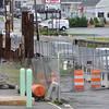 Danvers:<br /> The Route 35 bridge over Waters River has been under construction.<br /> Photo by Ken Yuszkus/Salem News, Friday, June 24, 2011.