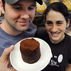 Salem:<br /> Andy and Jackie King, of A&J King Artisan Bakers will sell a special dessert, chocolate bouchon,  leading up to Mother's Day and all profits will go to Dana Farber for the Boston Bakes for Breast Cancer fundraiser. <br /> Photo by Ken Yuszkus/Salem News, Tuesday, April 27, 2010.