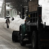 Salem:<br /> The winter scene along Essex Street in Salem on Wednesday morning.<br /> Photo by Ken Yuszkus/Salem News, Wednesday, February 2, 2011.