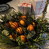 Salem:<br /> The decorated table in the dining room at the The House of the Seven Gables.  The House of the Seven Gables is offering a special holiday theme tour focusing on the evolution of Christmas from a banned holiday in Puritan times to the holiday we recognize today. <br /> Photo by Ken Yuszkus/Salem News, Wednesday,  December 8, 2010.