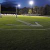 Danvers:<br /> One of the field logos at Deering Stadium in Danvers.<br /> Photo by Ken Yuszkus/Salem News, Friday, October 21, 2011.