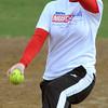 Middleton:<br /> Amanda Lucey, pitcher, at North Shore Tech High School softball practice. <br /> Photo by Ken Yuszkus/Salem News, Monday,  April 2, 2012.