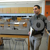Salem:<br /> David Angeramo, principal, stands in one of the newly renovated science labs at Salem High School during the tour.<br /> Photo by Ken Yuszkus/Salem News, Monday September 15, 2008.