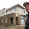Swampscott:<br /> Steve Hayes is standing in front of his Phillips Beach Fire Station which is being transformed into his residence.<br /> Photo by Ken Yuszkus/Salem News, Tuesday,  November 30, 2010.