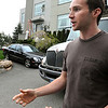Swampscott:<br /> Kevin Pasdon from Peabody is the first aid on the set of Seth Mac Farlane's movie, Ted. Scenes form the movie will be shot at 441 Atlantic Avenue in Swampscott on Wednesday evening. <br /> Photo by Ken Yuszkus/Salem News, Wednesday, May 4, 2011.