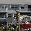 Beverly:<br /> Morning fire at 300 Manor Road.<br /> Photo by Ken Yuszkus/Salem News, Monday, May 17, 2010.