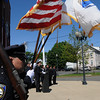 Salem:<br /> Police Chief Paul Tucker speaks at the renaming  of the Salem Police Station ceremony. The name of the police station was renamed for former chief Robert St. Pierre.<br /> Photo by Ken Yuszkus/Salem News, Tuesday, May 11, 2010.
