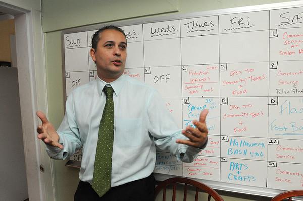 Salem:<br /> Probation officer, Jose Avila, speaks about the services at the Community Resource Center.<br /> Photo by Ken Yuszkus/Salem News, Thursday, October 20, 2011.