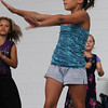 Beverly:<br /> Hailey Carroll, 9, sings, dances, and does gymnastics along with fellow Balch Playground members on the stage at Lynch Park during their musical presentation during the Beverly Homecoming's annual Lip Sync Extravaganza. <br /> Photo by Ken Yuszkus/Salem News, Tuesday, August 2, 2011.