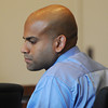 Salem;<br /> Ashley Fernandes who is charged with killing his girlfriend Jessica Herrera, is in Salem Superior Court at the beginning of his trial.<br /> Photo by Ken Yuszkus/The Salem News, Thursday, September 6, 2012.