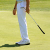 Marblehead:<br /> Anthony Dilisio of Salem Country Club watches his putt roll past the 18th hole during the first day of play at the 104th Massachusetts Amateur golf championship at Tedesco Country Club.<br /> Photo by Ken Yuszkus/Salem News, Monday, July 9,  2012.
