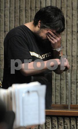 Salem::<br /> Scott Soreff in Salem Superior Court for the hit and run fatal of Valentin Macario in Salem on Tuesday night.  <br /> Photo by Ken Yuszkus/Salem News, Wednesday November 26, 2008.