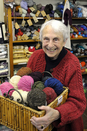 Beverly:<br /> Virginia McGlynn is retiring after 38 years at the Abbott Yarn Shoppe.<br /> Photo by Ken Yuszkus/Salem News,  Friday,  November 5, 2010.