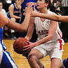 Topsfield:<br /> Masco's Chelsea Nason prepares to go up for a shot at her basket during the Somerville at Masconomet girls basketball playoff home game.<br /> Photo by Ken Yuszkus/Salem News, Thursday,  March 1, 2012.
