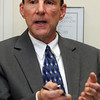Beverly:<br /> Rob McCarthy, Saugus attorney, is running against Hudak for the GOP nomination for Congress in the 6th District. He is speaking at the Salem News.<br /> Photo by Ken Yuszkus/Salem News, Tuesday,  September 7, 2010.