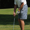 Wenham:<br /> Paul Munzing stands in disbelief that his putt stopped just short of the 18th hole during the annual Beverly High Hockey Alumni Golf Tournament at Wenham Country Club.<br /> Photo by Ken Yuszkus/Salem News, Monday, July 11, 2011.