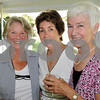 Danvers:<br /> From left, Sharon Masterson of Boxford, Sheila Mouton-Kelly of Danvers, and Mary Ellen Cullen of Danvers, attend the Danvers Historical Society fashion show and fundraiser held at Glen Magna Farms. <br /> Photo by Ken Yuszkus/Salem News,  Wednesday, June 3, 2009.