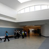Beverly:<br /> A tour group walks through the atrium on the first floor after the ribbon cutting ceremony for the new Beverly High School on Friday morning.<br /> Photo by Ken Yuszkus/Salem News,  Friday,  November 19, 2010.