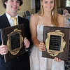 Peabody:<br /> Colin Blackwell and Rebecca Graves are the two Northshore Student Athlete of the Year award winners.<br /> Photo by Ken Yuszkus/Salem News, Thursday, June 9, 2011.