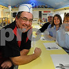 Peabody:<br /> From left, Jim Miles, Joe Miles, Jen Allen, and Judy Miles, all work at the The Little Depot Diner which is to be on Food Network's Diners Drive-ins and Dives.<br /> Photo by Ken Yuszkus/Salem News, Tuesday November 3, 2009.