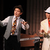 Danvers:<br /> Mark Cockfield, left, as Marcelles, and Emmett Pierro, as Harold Hill,  rehearse for the upcoming performance of The Music Man at the Holton Richmond Middle School.<br /> Photo by Ken Yuszkus/Salem News, Wednesday January 27, 2010.