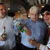 Salem:<br /> From left, A.J. Burnett, Don Kelley, and Bruce Whear man the bar at the Celebrity bartender event which is the Salem Rotary fundraiser at Victoria Station.<br /> Photo by Ken Yuszkus/Salem News, Thursday, May 31, 2012.