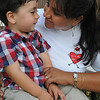 "Danvers:<br /> Isabelle Ouimette had her boy, Andre, born with a congenital heart defect. They have gone to four hospitals trying to help the two year old boy. She is speaking out as the local president of the ""It's My Heart"" Boston Chapter. She is trying to build awareness of the problem.<br /> Photo by Ken Yuszkus/Salem News, Tuesday,  September 7, 2010."