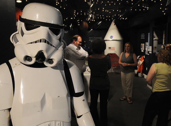 Wenham:<br /> A life size storm trooper from the movie Star Wars greets you as you enter the new exhibit at the Wenham Museum.<br /> Photo by Ken Yuszkus/Salem News, Thursday, June 16, 2011.