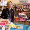 Danvers:<br /> Heather Roman, one of the two owners of the Chulamama stores, is in the new store that recently opened in Danvers.<br /> Photo by Ken Yuszkus/Salem News, Friday November 13, 2009.