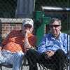 Beverly:<br /> From left, Don Cullen, Bob Forrest, and Jim Lewis, all of Beverly, watch the game action near home plate at the Gloucester at Beverly Division 2 North playoff quarterfinal baseball game at Cooney Athletic Field.<br /> Photo by Ken Yuszkus/Salem News, Monday, June 6, 2011.