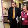 Salem:<br /> Congressman John Tierney, D-Salem, tours the Salem Family Health Center accompanied by Gloria Riley, COO/HR director at the center.<br /> Photo by Ken Yuszkus/Salem News, Tuesday, March 30, 2010.