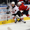 Salem:<br /> Beverly's Connor Irving follows the puck along the boards during the Beverly vs Lynn boys hockey game at Salem State University.<br /> Photo by Ken Yuszkus/Salem News, Thursday, February 24, 2011.