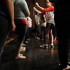 Salem:<br /> Allie LaMonica, choreographer, gives directions on stage for the closing singing number, as the Salem High students rehearse for their annual Jazz/Broadway Showcase, which is Friday at 7:30 p.m..<br /> Photo by Ken Yuszkus/Salem News, Tuesday, April 6, 2010.