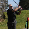 Beverly:<br /> Steve Polansky of Beverly, tees off while playing golf at the Beverly Golf & Tennis Club on Friday.<br /> Photo by Ken Yuszkus/Salem News, Friday,  March 23, 2012.