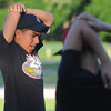 Salem:<br /> Xavier Cole of the Salem Little League All-Stars stretches at the start of practice at Forest River Park.<br /> Photo by Ken Yuszkus/Salem News, Thursday, June 28,  2012.