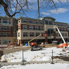 Beverly:<br /> The construction of the new high school.<br /> Photo by Ken Yuszkus/Salem News, Friday, February 19, 2010.