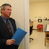 Peabody:<br /> Bob Potter, vice president of development, stands in front of the doctors room at Community Substance Abuse Center in Peabody.<br /> Photo by Ken Yuszkus/Salem News, Wednesday, June 9, 2010.