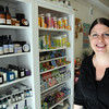 Salem:<br /> Kate Leavy stands in her store, Scrub.<br /> Photo by Ken Yuszkus/Salem News, Friday, December 2, 2011.