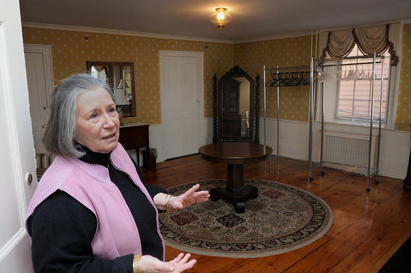 Salem:<br /> Pamela Jendrysik, president of the board of directors, stands in the brides room at Hamilton Hall.<br /> Photo by Ken Yuszkus/Salem News, Tuesday,  March 6, 2012.
