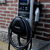 Ipswich:<br /> The electric vehicle charging station, which is one of two stations at EBSCO. <br /> Photo by Ken Yuszkus/Salem News, Wednesday, August 10, 2011.
