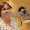 Danvers:<br /> Dr. Jean O'Brien, radiologist at the Breast Health Center at Beverly Hospital at Danvers MRI Center stands near the Aurora machine at the hospital.<br /> Photo by Ken Yuszkus/Salem News/ Tuesday September 16, 2008.