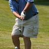 Wenham:<br /> Mike O'Brien hits off the slope of the hill toward the 18th hole during the annual Beverly High Hockey Alumni Golf Tournament at Wenham Country Club.<br /> Photo by Ken Yuszkus/Salem News, Monday, July 11, 2011.