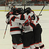 Cambridge:<br /> Marblehead celebrates their first goal in the first period during the Marblehead vs Pembroke division 3 state semifinals at Bright Center at Harvard University.<br /> Photo by Ken Yuszkus/Salem News, Tuesday March 15, 2011.