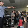 Peabody:<br /> Milan Lucic asks Bruins trivia questions while visiting Harolyn Fucile's and Lisa Tivnan's third-grade classes at the West Memorial School on Friday afternoon.<br /> Photo by Ken Yuszkus/Salem News, Friday,  March 9, 2012.