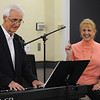 Beverly:<br /> Pianist Dan Murphy and singer Maureen Pilot and not pictured is Pierre LeMieux on bass, perform a nostalgic review of wartime tunes from the World War II era, and how they reflected the times. The performance was at the Beverly Public Library on Monday morning.<br /> Photo by Ken Yuszkus/Salem News,  Monday,  November 8, 2010.