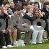 Danvers:<br /> The family of Donald Barnett, Jr. sit during the memorial service for Donald Barnett, Jr. at Plains Park.<br /> Photo by Ken Yuszkus/Salem News, Friday, November 7, 2008.