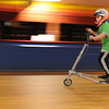 Beverly:<br /> Jonathan Polignone of Peabody, speeds around the floor on the Trikke carving vehicle at the Roller Palace.<br /> Photo by Ken Yuszkus/Salem News, Sunday, March 7, 2010.