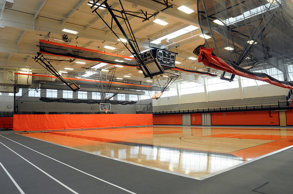 Beverly:<br /> Beverly High School's renovated field house.<br /> Photo by Ken Yuszkus/Salem News, Monday, May 9, 2011.