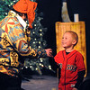 Salem:<br /> Jay Menice, left, as professor Wiggledom, gets help with juggling from an audience member, Kristian Norbdy of Dover, MA, during The Harry Potter Wizards Show at The Griffin Theatre on Sunday.<br /> Photo by Ken Yuszkus/Salem,  News, Sunday,  December 26, 2010.