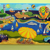 Peabody:<br /> A digital collage by Sara Morton is part of the collection of artwork exhibited at Boston Children's North Hospital in Peabody.<br /> Photo by Ken Yuszkus/Salem News, Thursday, February 24, 2011.